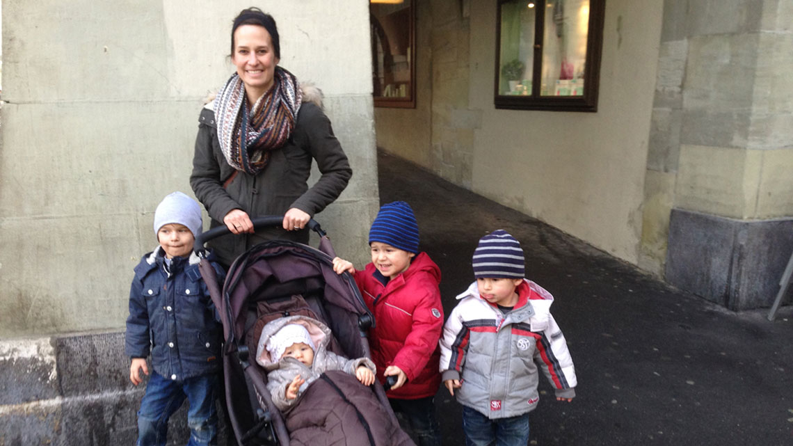 Stephan's wife, Nadine, and their four children