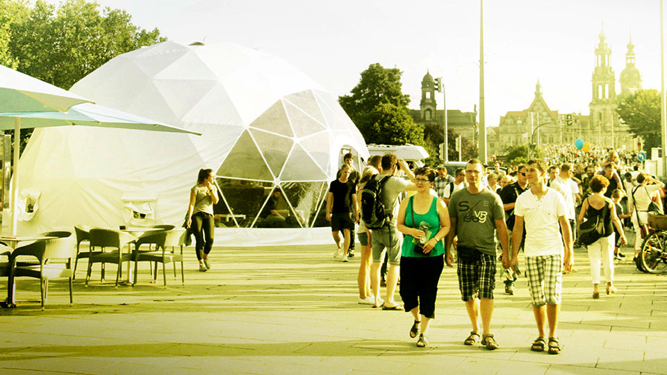 Sfera Space at Dresden City Festival, Germany